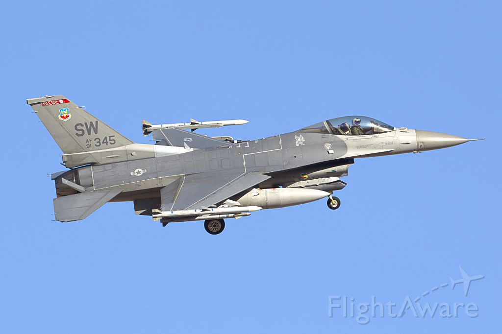 Lockheed F-16 Fighting Falcon (SWAF91345) - General Dynamics F-16 Fighting Falcon<br />Red Flag Exercise - Nellis Air Force Base (03/13)<br />SW AF91 345 - from Shaw AFB, S.C.