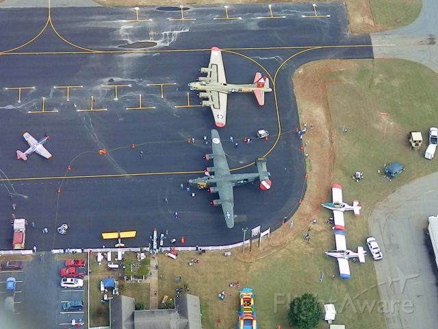 Boeing B-17 Flying Fortress (N93012) - OVER PERRY AIRPORT IN PERRY GEORGIA