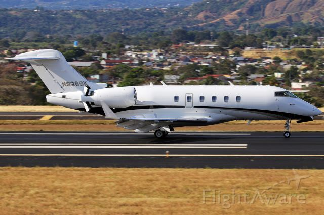 Bombardier Challenger 300 (N828SK) - N828SK arriving from Palm Beach. Second CL30 to wear this registration.