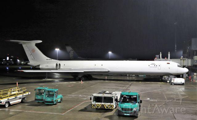 Ilyushin Il-62 (EW-450TR) - rada airlines il-62mgr ew-450tr resting at shannon tonight 19/4/21.