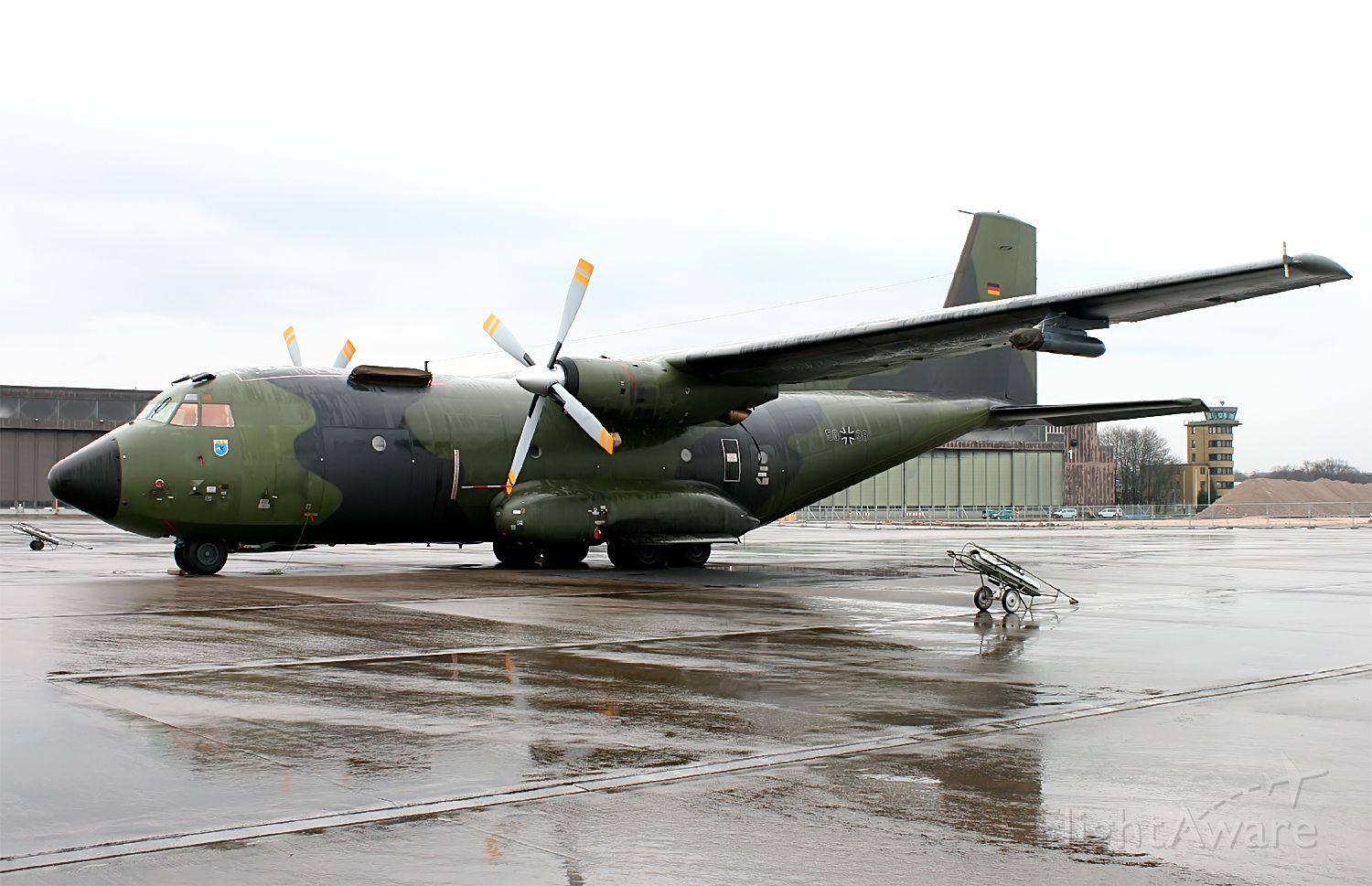 TRANSALL C-160 (N5038) - as medical evacuation often are flown in hazardous conditions 5038 is equipped with some self protection