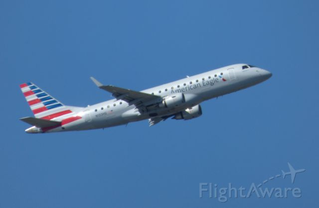 Embraer 175 (N133HQ) - Shown here is a American Eagle Embraer E175 departing in the Autumn of 2017.