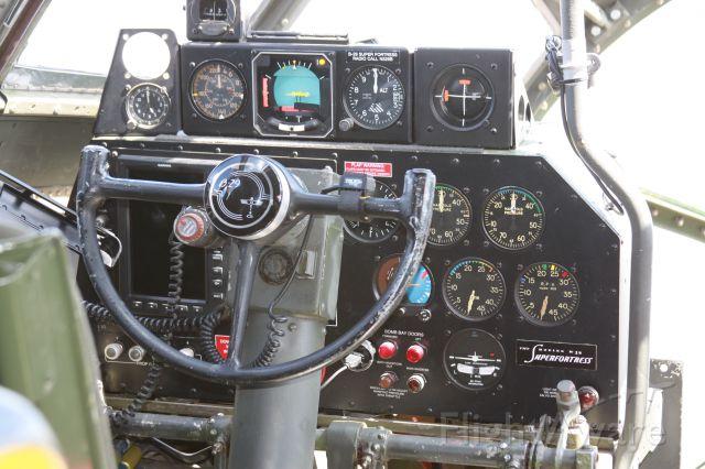 — — - Pilots position, B-29 FIFI at Naples, FL, March 4, 2014