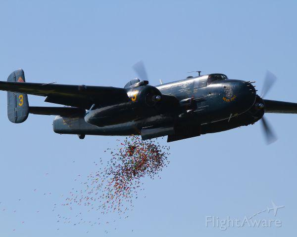N9643C — - Devil Dog on an Easter Egg bombing run at KGTU