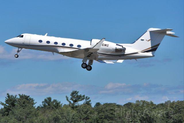 Gulfstream Aerospace Gulfstream IV (N176MG) - Gulfstream G450 (N176MG) departure from KBVY off of runway 34.