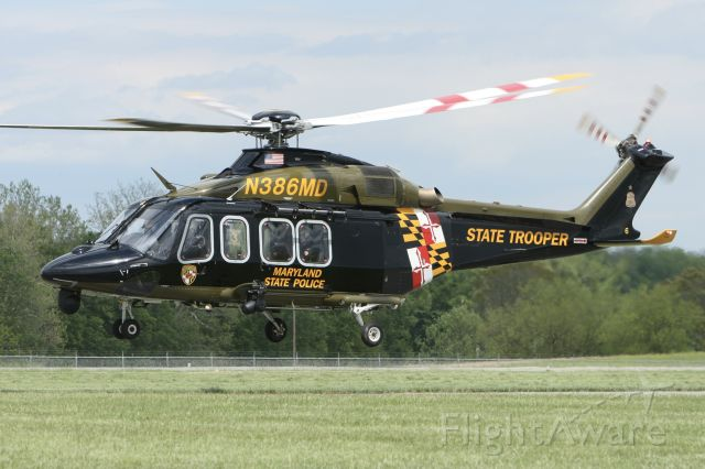 BELL-AGUSTA AB-139 (N386MD) - May 11, 2021 - departed Frederick base