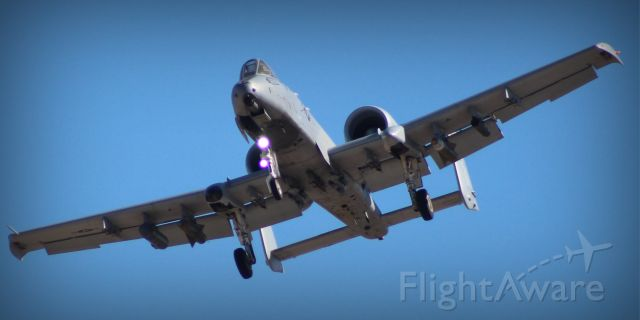 — — - A-10 Thunderbolt II in the patter at Davis-Monthan AFB, AZ.