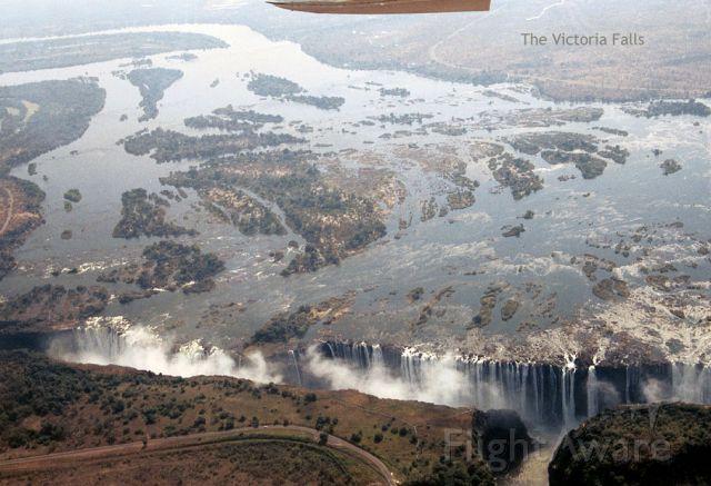 Cessna Centurion (ZS-AVB) - Circling over the Victoria Falls, Zimbabwe.