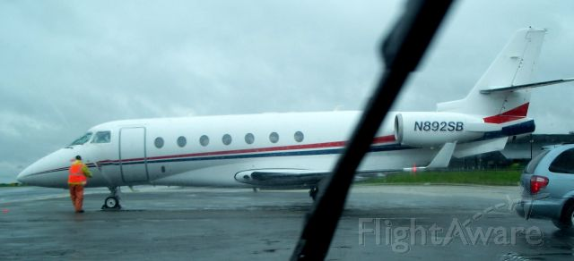 IAI Gulfstream G200 (N892SB) - Parked at Landmark Aviation FBO, White Plains Airport. KHPN
