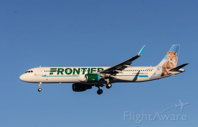 Airbus A321 (N706FR) - 30Dec2015 delivery A321 Frontier Airlines landing runway 26 then heading to USA.