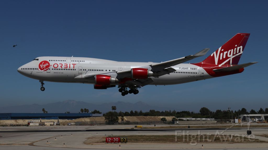 Boeing 747-200 (N744VG) - Cosmic Girl returning to Long Beach Airport after a test flight on September 18, 2018