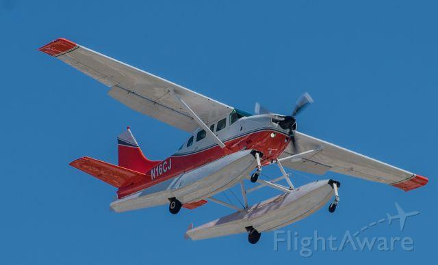 Cessna 206 Stationair (N16CJ) - Short final , runway 23 , returning from Key West