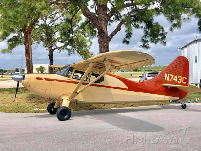 Piper 108 Voyager (N743C) - 1947 Stinson 108-3 N743Cbr /Lycoming IO360 / 200HP