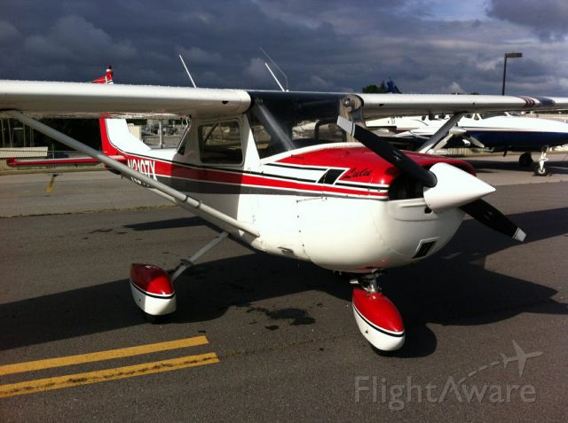 """Cessna Commuter (N3107X) - 1966 Cessna 150F dubbed """"Lulu"""" at the Lee Gilmer Memorial Airport in Gainesville, GA."""