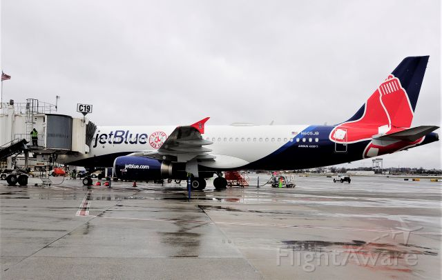 Airbus A320 (N605JB) - April 1st 2021 - NEW Red Sox Special Livery