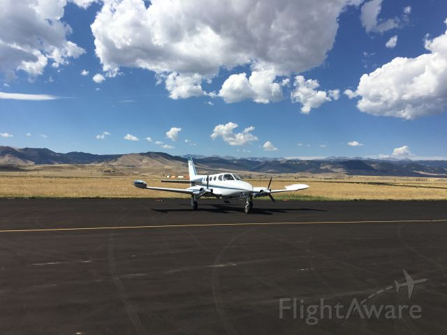 Cessna 340 (N451PK) - Dropping off for engine(s) reman.