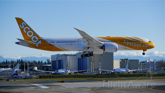 Boeing 787-9 Dreamliner (9V-OJA) - BOE127 on final to Rwy 16R to complete its B1 flight on 1/12/15. (ln 240 / cn 37112).