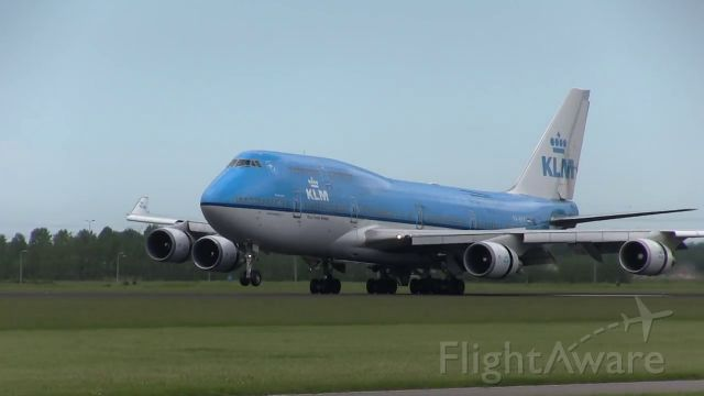 Boeing 747-400 (PH-BFF) - landing from Mexico City RW27