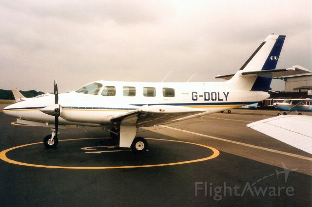 Cessna T303 Crusader (G-DOLY) - Seen here in Sep-96.