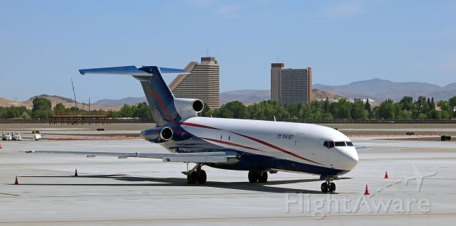 BOEING 727-200 (N727US) - JUS's N727US (ex American Airlines as N715AA and ex Capital Cargo International as N715AA), a B722, sits on the November Ramp for a daytime rest at RNO.<br />(Photo taken one month ago: 5 Jun 2020)