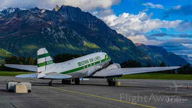 Douglas DC-3 (N763A) - Palmer, Alaska 9/18/2021.  Long Way From Home....