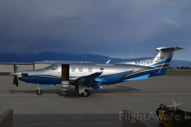 Pilatus PC-12 (N842WF) - Taken from the terminal.