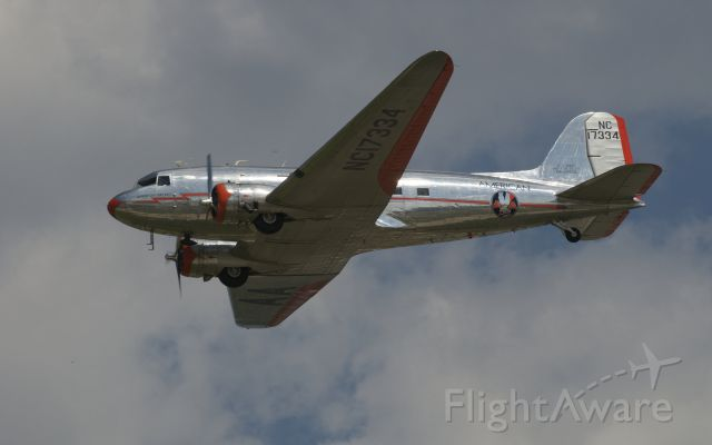 Douglas DC-3 (NC17334) - Flyby during the 75th Anniversary celebration of the DC-3 at Oshkosh 2010