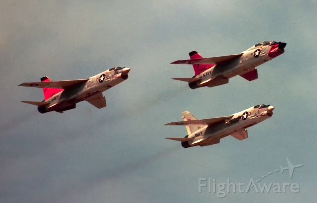 14-3710 — - TF-8A leading  2 other F-8 Crusaders at Pax River August 1968.