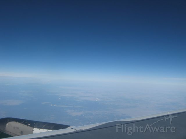 Airbus A318 (N807FR) - over New Mexico