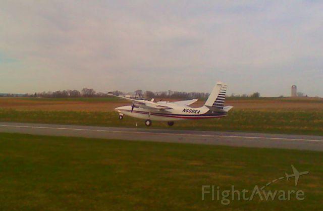 Aero Commander 500 (N666KA) - Sweet short field technique & landing at Deck Airport, Pennsylvania.