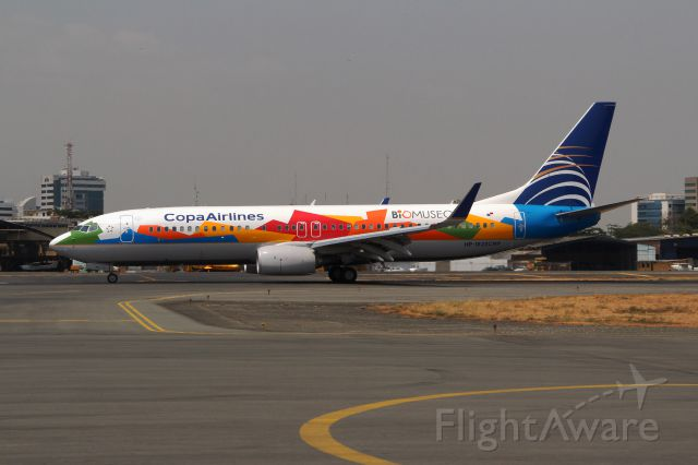 Boeing 737-800 (HP1825CMP) - Colorful looking fellow...