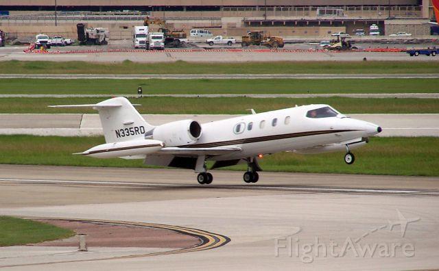 Learjet 35 (N335RD) - ....allllmost down...