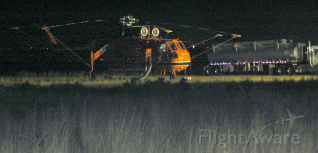 Sikorsky CH-54 Tarhe (N94AC) - 2012 Fire season, night maintenance.