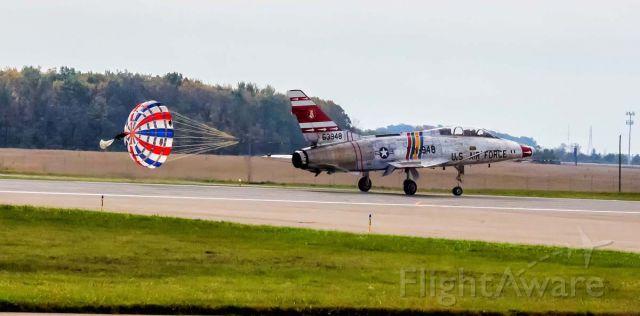 North American Super Sabre (N2011V) - Landing at KFWA