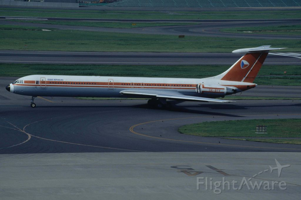 Ilyushin Il-62 (OK-BYV) - Taxing at Tokyo-Haneda Intl Airport on 1996/09/08