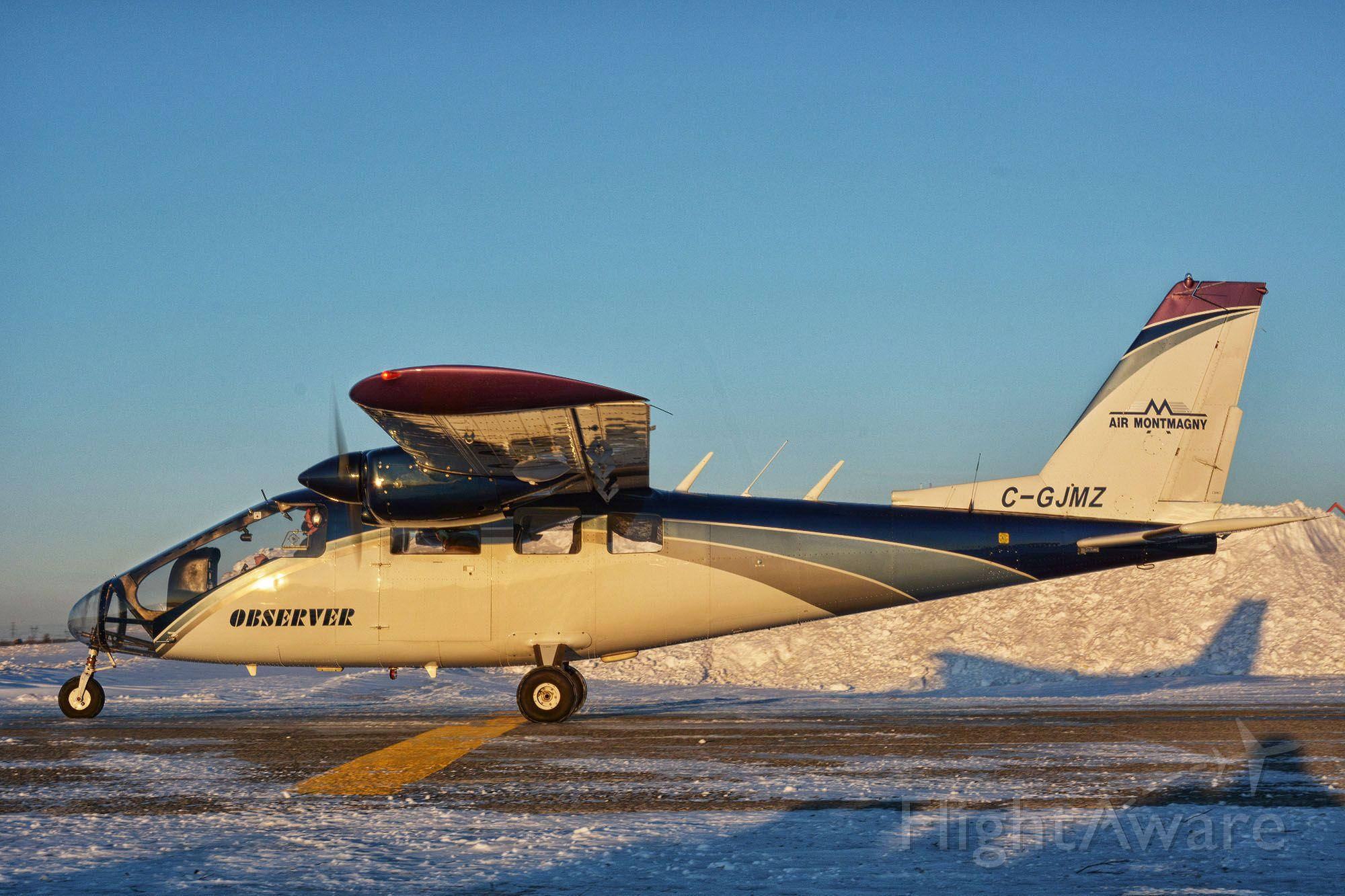 Partenavia P-68 (C-GJMZ) - Visiting CYHU, 29-01-2021