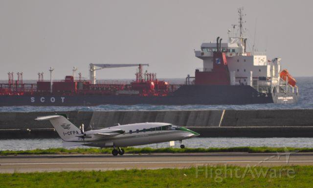 Piaggio P.180 Avanti (I-CFPA) - Corpo Forestale dello Stato Piaggio P-180 Avanti CFS-181/I-CFPA 181 landing in Genova