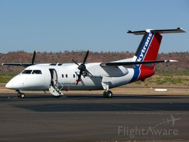 de Havilland Dash 8-100 (VH-QQK) - Ready for boarding at Mount Isa