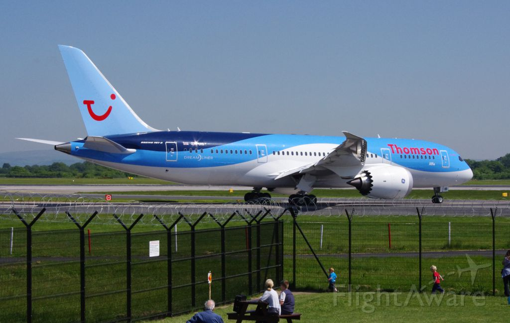 G-TUIB — - Thomson playing with their new toy. Crew training flights from Mnachester. 6 June 2013