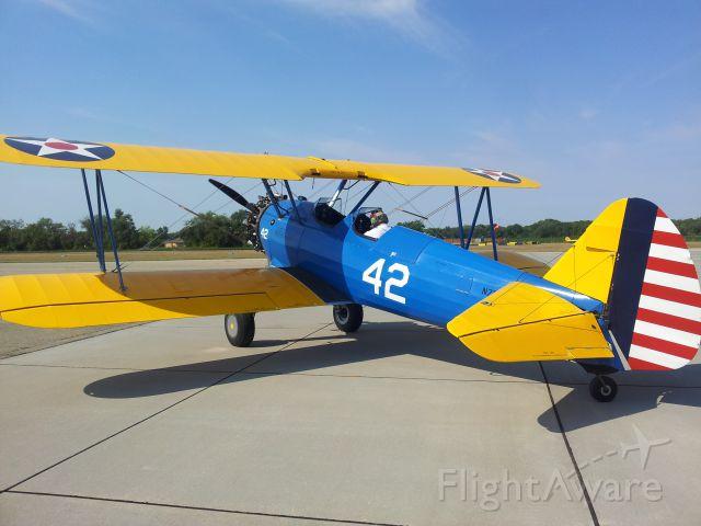 Boeing PT-17 Kaydet — - Made a mistake this was taken at 3JC not KTOP