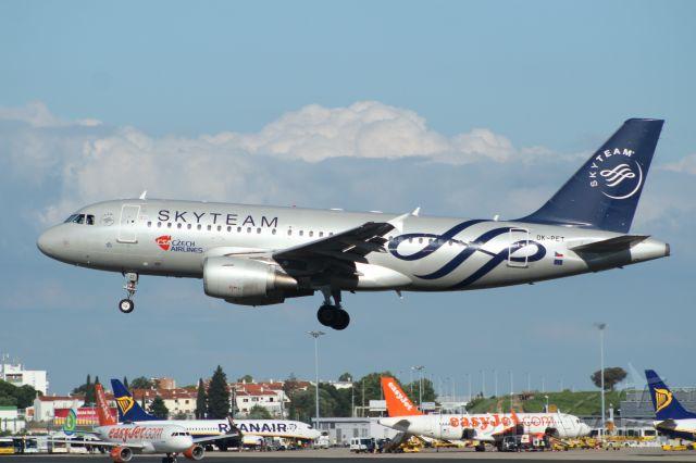 Airbus A319 (OK-PET) - LISBOA 04-07-2018