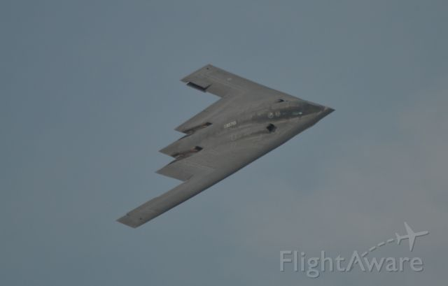 Northrop Spirit — - US Air Force B-2 conducting a fly-by at the Power on the Prairie Airshow - 2012 in Sioux Falls SD