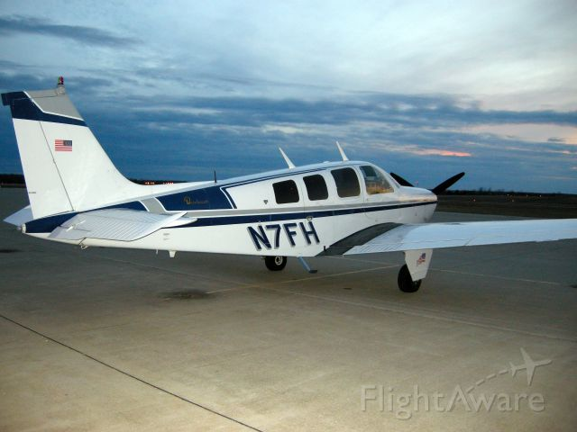 Beechcraft Bonanza (36) (N7FH) - Awaiting next assignment at Lebanon Mo.