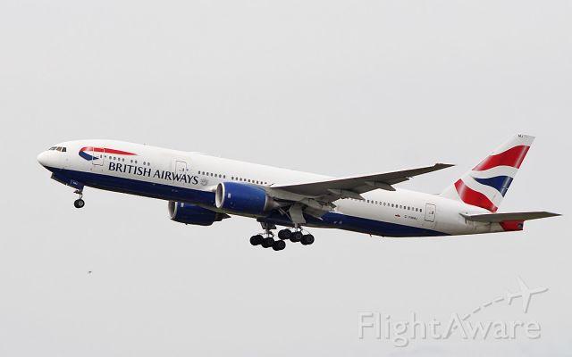 Boeing 777-200 (G-YMMJ) - british airways b777-236er g-ymmj dep shannon after wifi fitting 20/6/18.