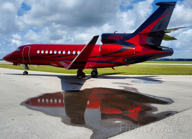 Dassault Falcon 900 (N539CA) - The sexiest paintjob Ive ever seen.