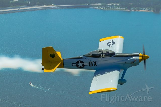 Vans RV-4 (N413BX) - Smoke on in formation over Lake Murray near KCUB and KCAE in Columbia, SC