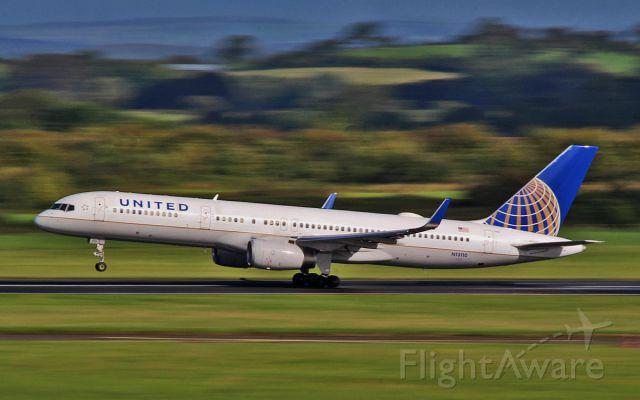 Boeing 757-200 (N13110) - united b757-2 n13110 dep shannon 27/8/15.