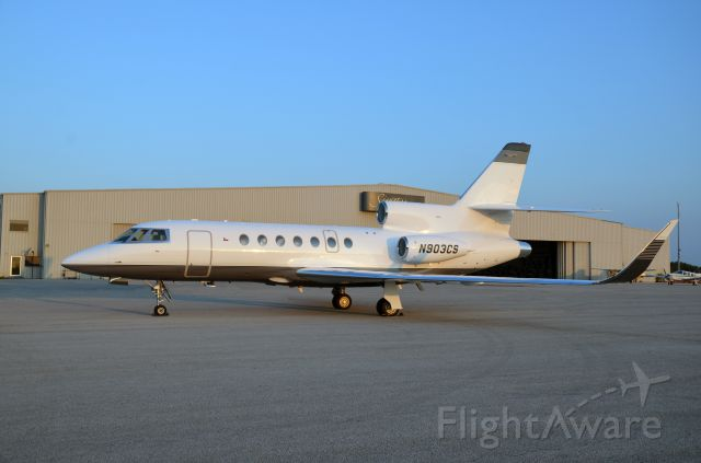 Dassault Falcon 50 (N903CS) - On the ground after a recent paint job and new winglets.