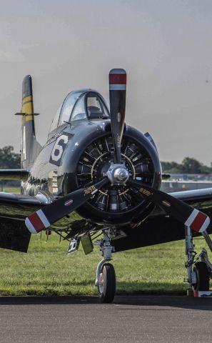 North American Trojan — - T-28C of Trojan thunder sitting on the flight line
