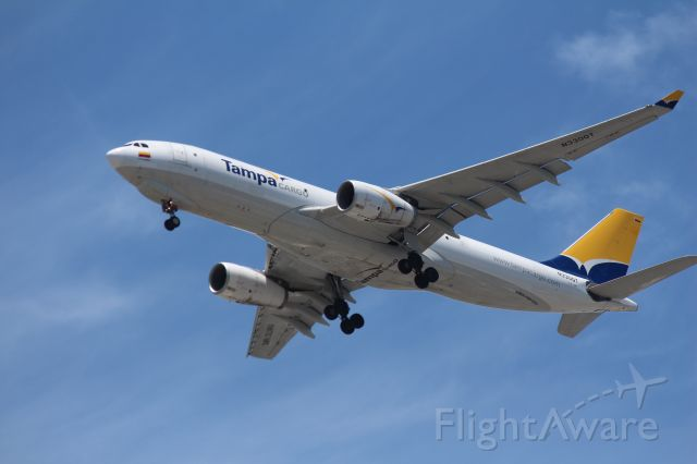 Airbus A330-200 (N330QT) - On final approach for Miami International - Wilcox Field.